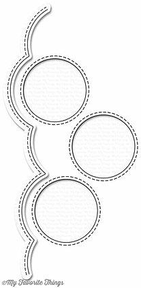 Stitched Triple Peek-a-Boo Window & Edge