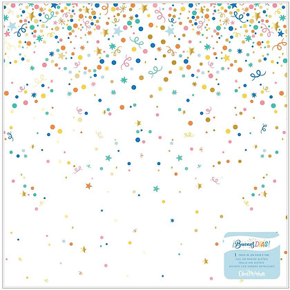 """Obed Marshall Buenos Dias Specialty Paper 12""""X12"""" Acetate W/Gold Foil Accents"""