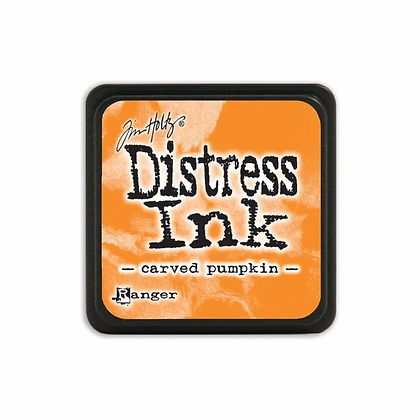 Mini Distress Ink Carved Pumpkin
