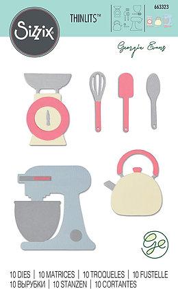 Sizzix Thinlits Die Set 10PK - Kitchen Set