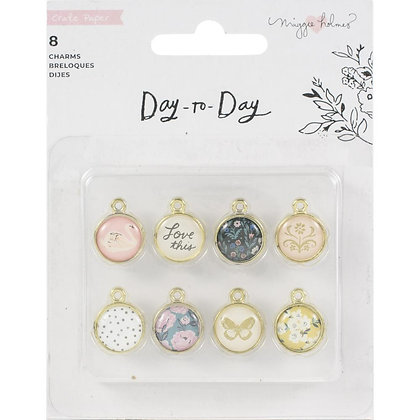 Maggie Holmes Day-To-Day Planner Charms 8/Pkg