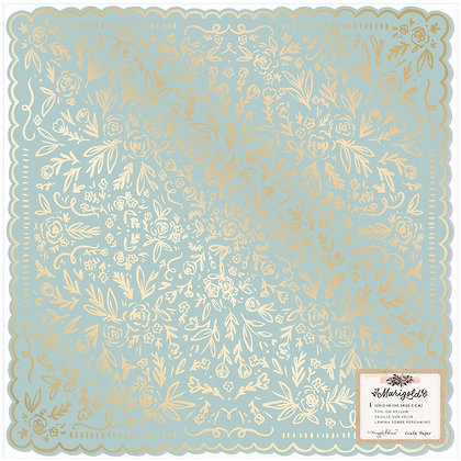 "Maggie Holmes Marigold Single-Sided Cardstock 12""X12"" So Sweet W/Foil Accents"