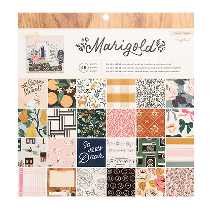 """Crate Paper Single-Sided Paper Pad 12""""X12"""" 48/Pkg Maggie Holmes Marigold"""