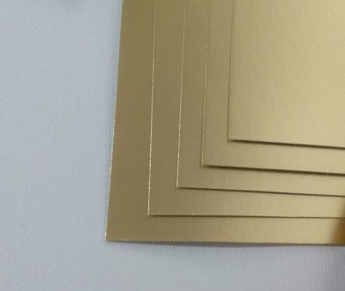 Cartulina Metalizada Dorada Mate