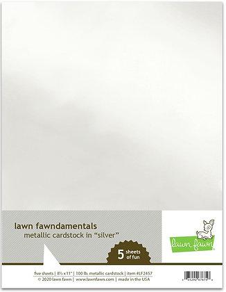 Metallic cardstock - silver