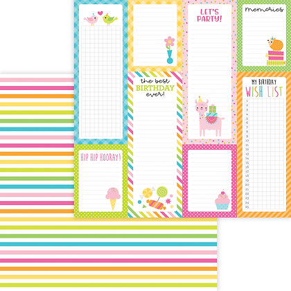 Sundae Stripe Pattern Paper
