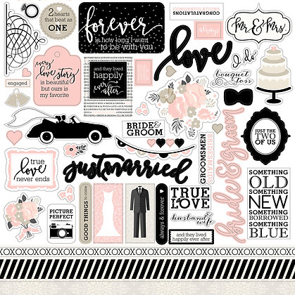 Element Stickers Wedding Bliss