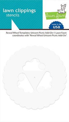 Reveal wheel templates: unicorn picnic add-on
