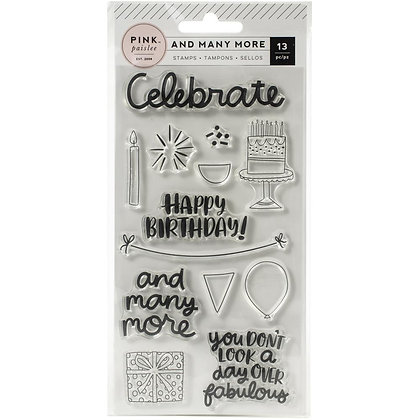 And Many More Clear Acrylic Stamps 13/Pkg