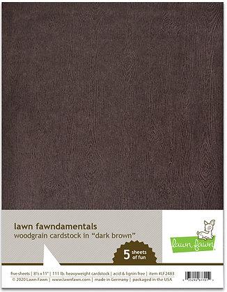Woodgrain cardstock - dark brown