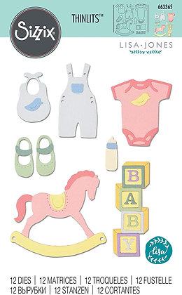 Sizzix Thinlits Die Set 12PK - New Baby # 2