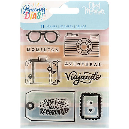 Obed Marshall Buenos Dias Acrylic Stamps 11/Pkg