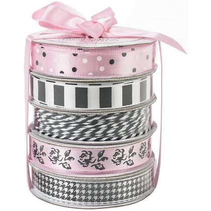 Premium Ribbon & Twine 5/Pkg Classy Pink