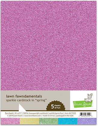Sparkle cardstock - spring