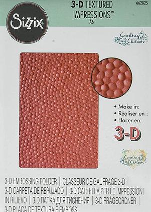 Sizzix 3-D Textured Impressions Embossing Folder - Cobblestone