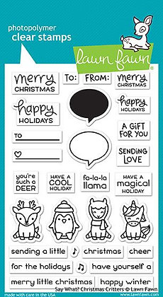 Say what? Christmas critters combo (Stamps and dies)