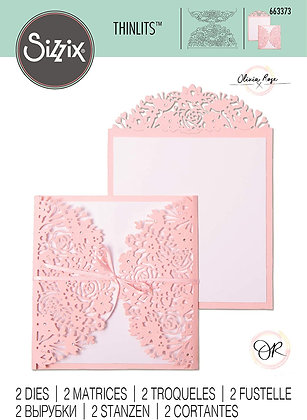 Sizzix Thinlits Die Set 2PK - Floral Edges