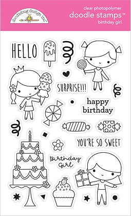 Birthday Girl Doodle Stamps