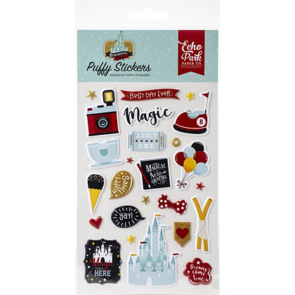 Remember The Magic Puffy Stickers