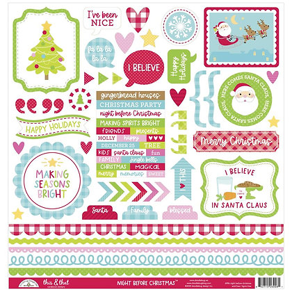 """Night Before Christmas This & That Cardstock Stickers 12""""X12"""""""