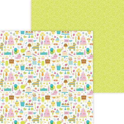 Birthday girl Pattern Paper