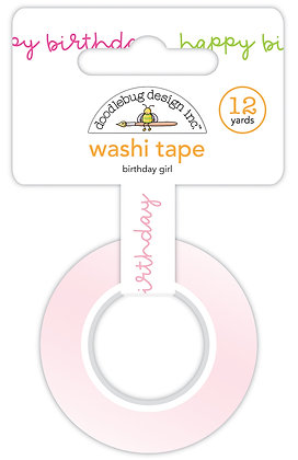Birthday girl washi tape
