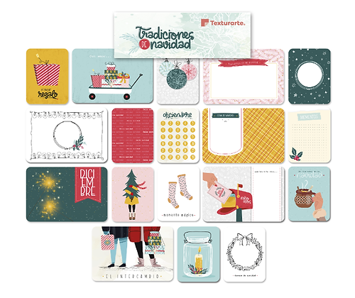 Paquete de tarjetas Tradiciones Navideñas