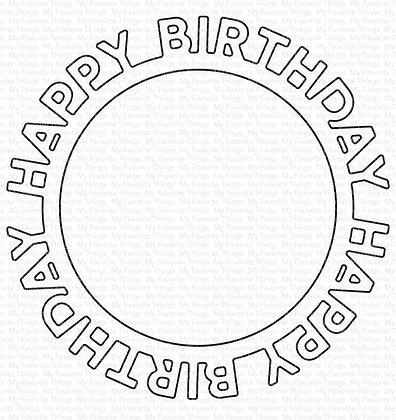 Happy Birthday Circle Frame
