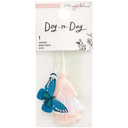 """Maggie Holmes Day-To-Day Charm Bookmark 2""""X4.5"""" Butterfly"""