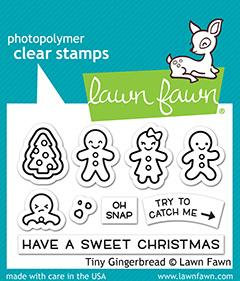 Tiny Gingerbread stamps and die
