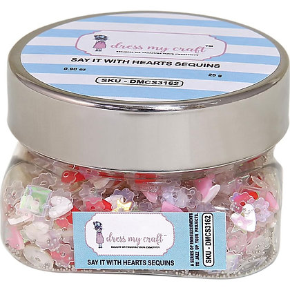 Dress My Crafts Sequins 25gms Say It With Hearts