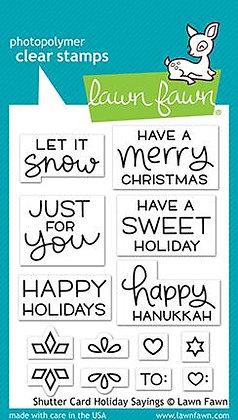 Shutter card holiday sayings