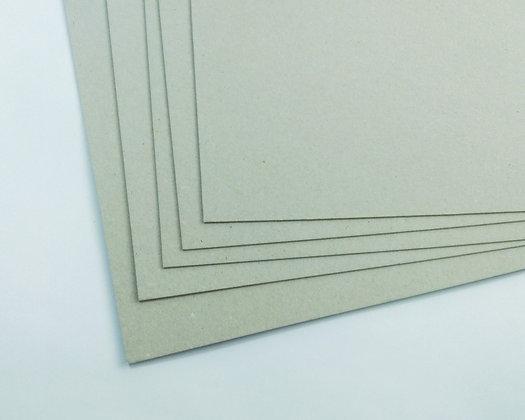 5 Piezas Cartón Gris #2 Carta