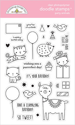 Party Animals Doodle Stamps