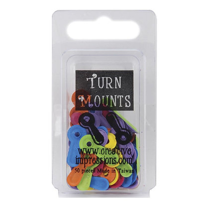 Painted Metal Turn Mounts 50/Pkg Tropical