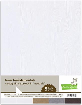 Woodgrain cardstock - neutrals