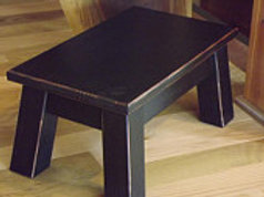 "wood step stool rectangle 10"" high black"