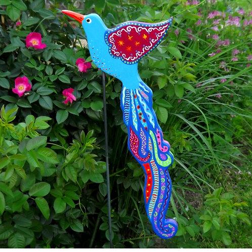 """Planzensteckerstecker  Paradiesvogel türkis """"Shangrila"""""""