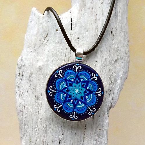 Kunst Anhänger handbemalt,  Mandala Art handbemalt