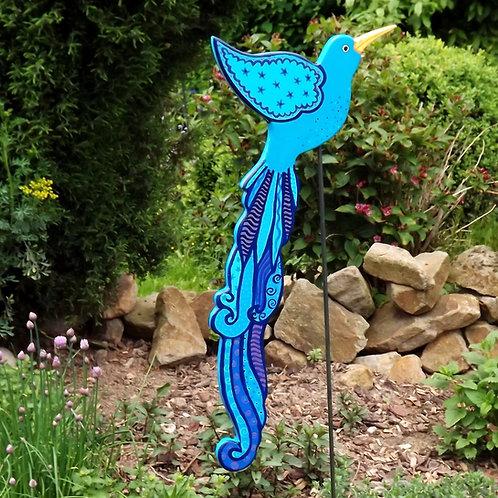 """Paradiesvogel blau-türkis """"Anea"""", Gartenstecker"""
