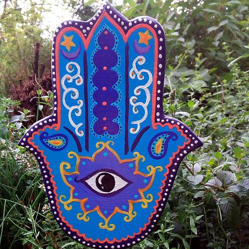 Gartenskulptur Hamsa Hand, Schutzsymbol spirituell