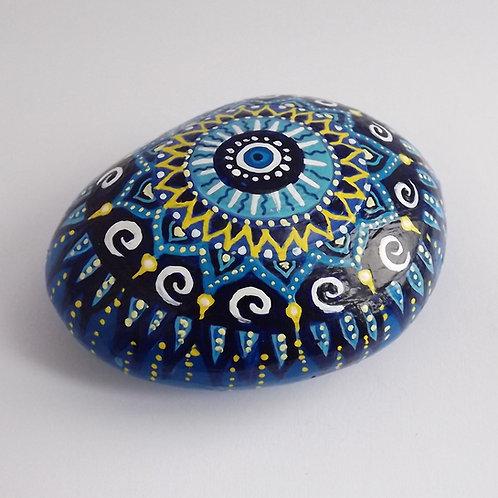 Handbemalter Mandala Stein, Mandalaart, paperweight