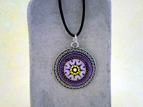 Kette indianisch, lila, Boho Schmuck, Spirituelle Kette