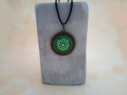 Boho Schmuck, Spirituelle Kette türkis lila, indianisch