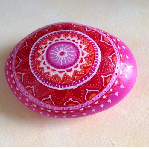 Mandala Rock, handbemalt, Kunst, Sammlerstück, Deko