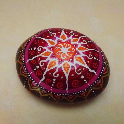 Handbemalter Stein Keramik, paperweight, Mandalaart