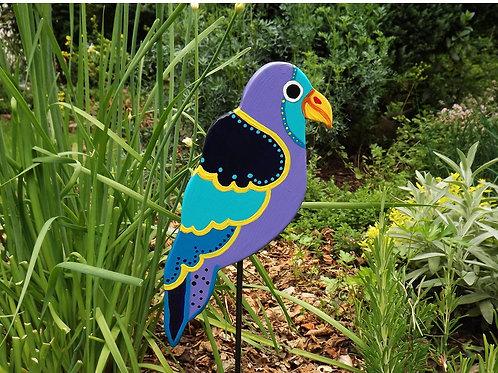 "Papagei Holz Beestecker ""Luano"" Lila, Gartendekoration"