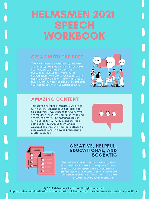Speech Workbook 2021