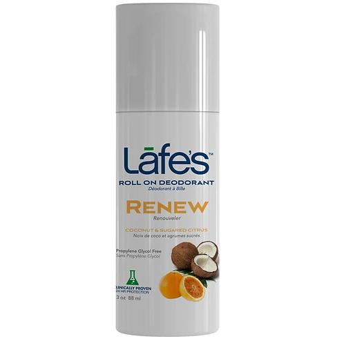 Desodorante Natural Roll On Renew 88ml (Coco e Frutas Cítricas) - Lafe's