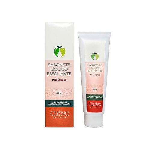 Sabonete Líquido Esfoliante Facial Pele Oleosa Orgânico Vegano 80ml - Cativa